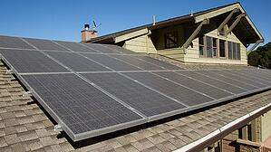 Solar panels on a home's roof